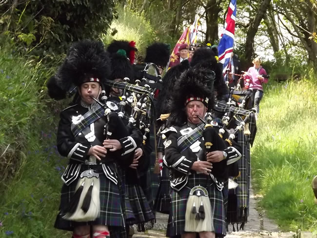 Kernow Pipes and Drums at Trebah Gardens