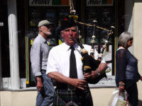 Kernow Pipes and Drums at Falmouth University parade 2013