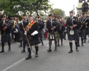 Kernow Pipes and Drums at Falmouth carnival 2013