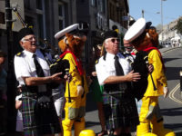 Kernow Pipes and Drums at Newquay Lifeboat Day 2013