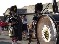 Kernow Pipes and Drums at Land's End Air Ambulance Day 2013