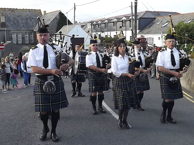 Kernow Pipes and Drums at Port Isaac 2013