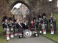 Kernow Pipes & Drums at Launceston carnival 2013