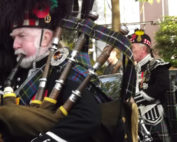 Kernow Pipes and Drums at Falmouth Remembrance parade 2013