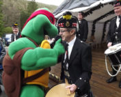 Kernow Pipes and Drums at Trago Mills 2013