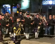 Kernow Pipes and Drums at Bideford massed bands