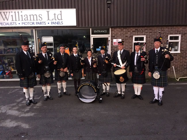 Kernow Pipes and Drums at Launceston carnival