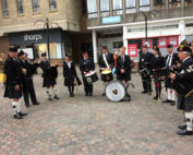 kernow pipes and drums at truro poppy launch