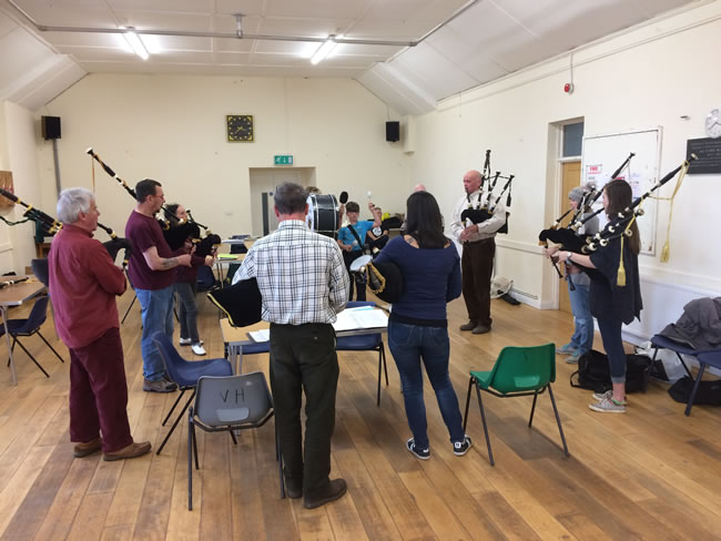 Crantock workshop with kernow pipes and drums