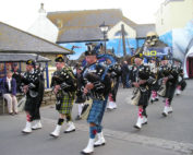 Kernow Pipes and Drums at Lands End 2011