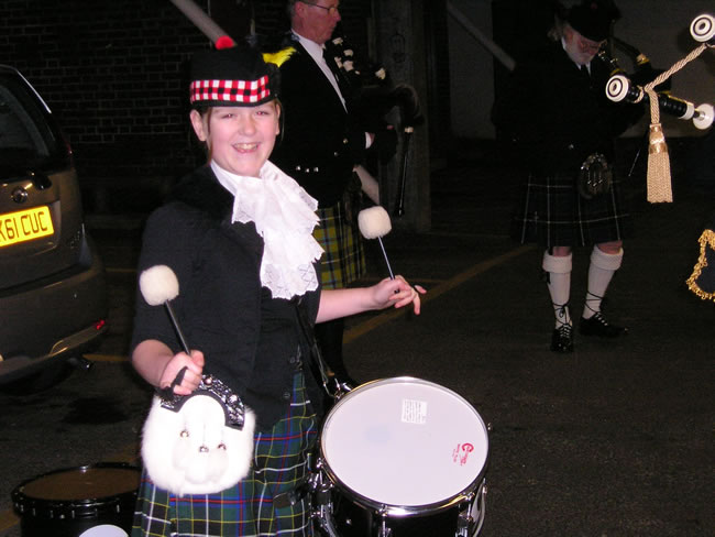 Kernow Pipes and Drums at Truro Cathedral 2012