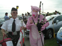 Kernow Pipes and Drums at St Merryn carnival 2012