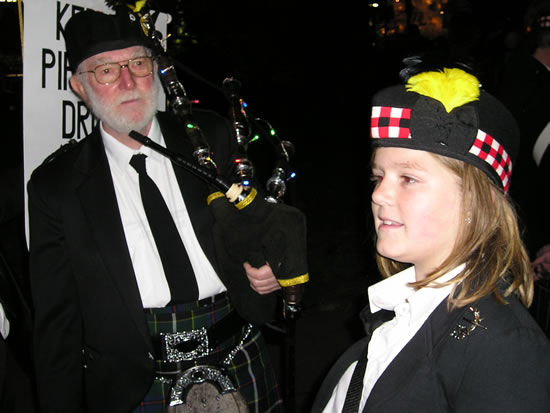 Kernow Pipes and Drums at Truro City of Lights 2012