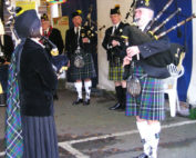 Kernow Pipes and Drums at Trago Mills 2012