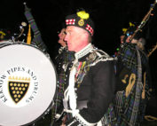 Kernow Pipes and Drums at Truro City of Lights 2013