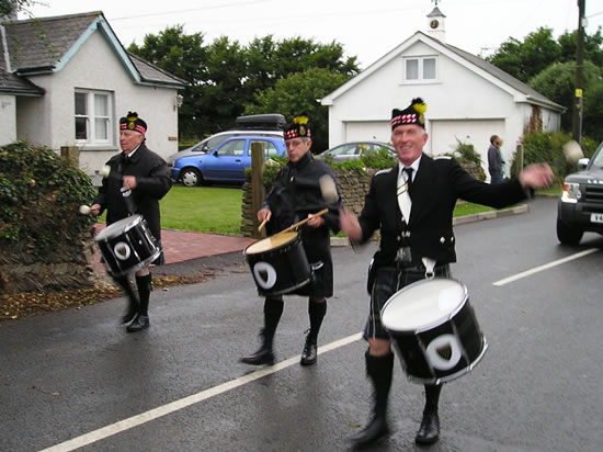 Kernow Pipes and Drums at St Merryn carnival 2013