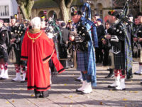 Kernow Pipes and Drums at Falmouth Remembrance parade 2012