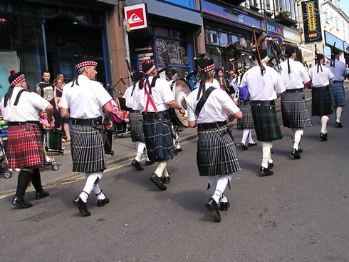 Kernow Pipes and Drums at Newquay Lifeboat day 2012