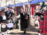 Kernow Pipes and Drums at Camborne Poppy Launch 2012
