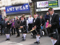 Kernow Pipes and Drums at Trevithick Day 2013