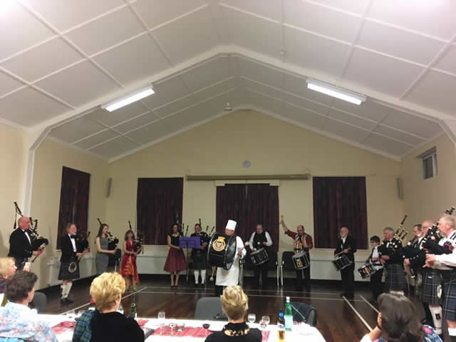 Band Playing at the Kernow Pipes and Drums annual dinner and ceilidh