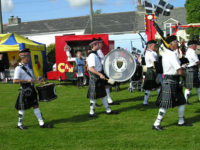 Kernow Pipes and Drums at Constantine carnival 2011