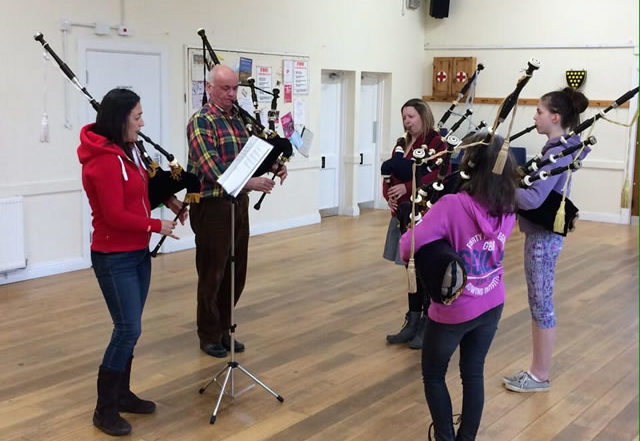 kernow pipes and drums 50th band workshop
