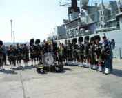 Kernow Pipes and Drums at HMS Cornwall 2011