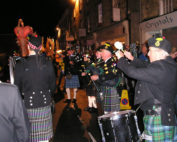 Kernow Pipes and Drums at Truro City of Lights parade 2011