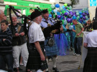 Kernow Pipes and Drums at Mevagissey Carnival 2011