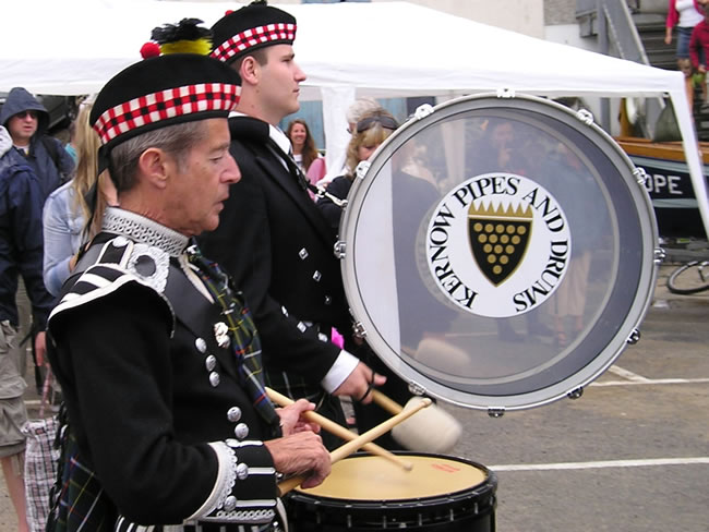 Kernow Pipes and Drums at Newquay Lifeboat Day 2011