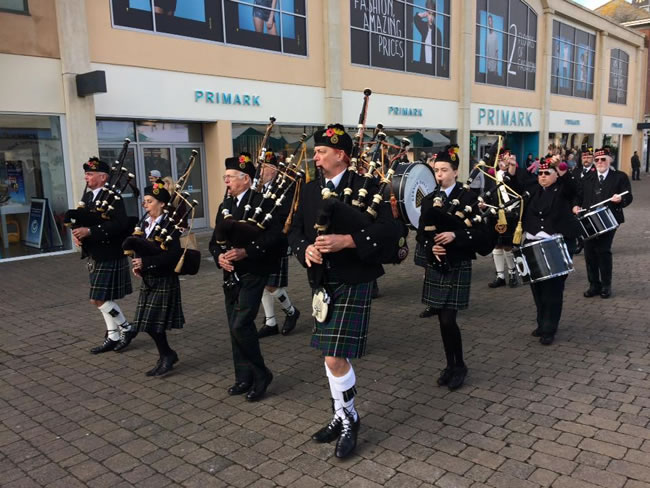 Kernow Pipes and Drums at RBL fundraiser