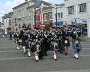 Kernow Pipes and Drums at RBL 90th birthday Truro 2011
