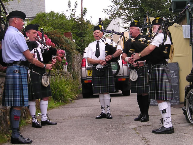 Kernow Pipes and Drums at St Agnes 2011