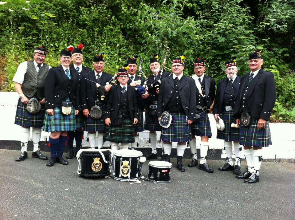 Kernow Pipes & Drums at Polperro Music Festival 2018