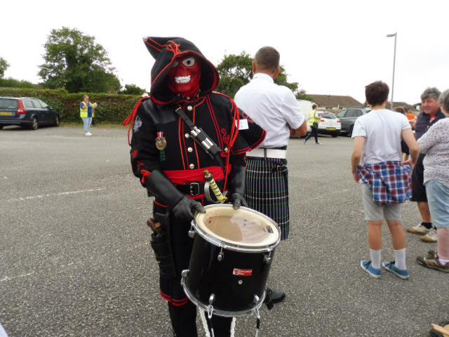 Kelvin of Kernow Pipes and Drums at Padstow carnival 2018