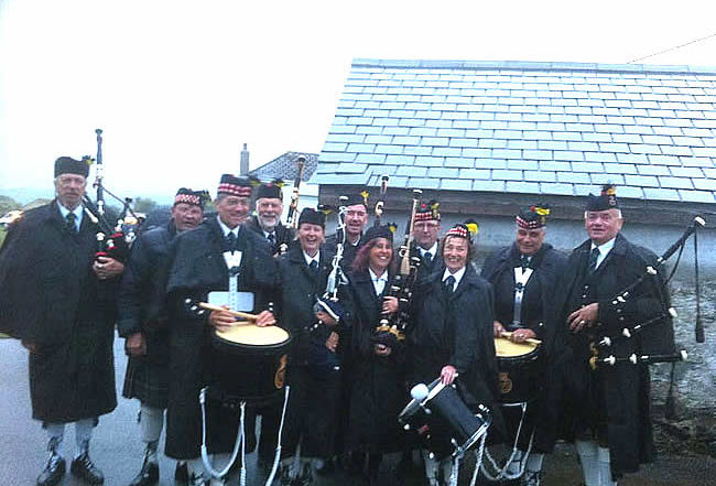Kernow Pipes & Drums at St Columb carnival 2018