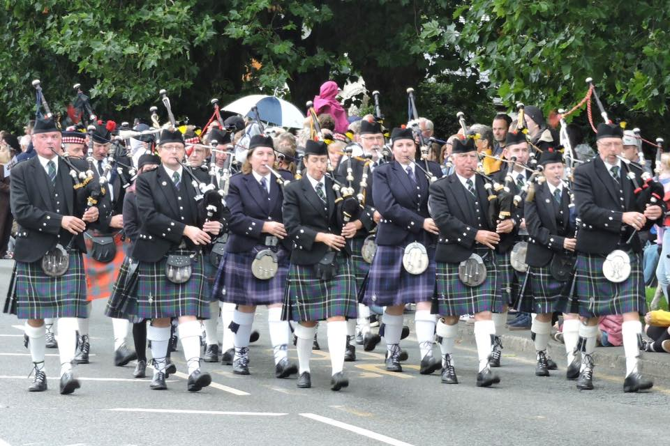Kernow Pipes & Drums and friends at Bideford Massed Bands 2018