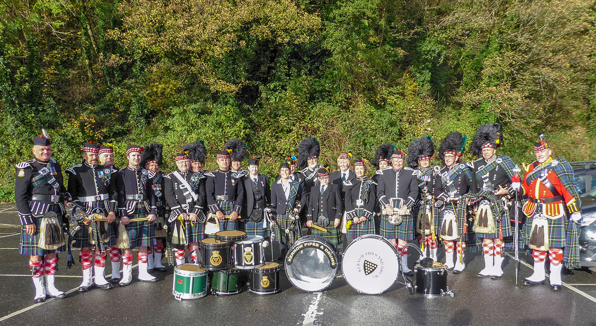 Kernow Pipes & Drums Remembrance Falmouth 2018