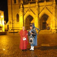 Lone Piper At Truro Cathedral