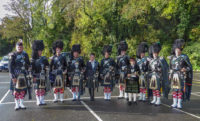Lone Piper Group With drummer