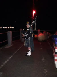 Lone Piper St Mawes