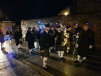 Kernow Pipes and Drums at Truro City of Lights 2018