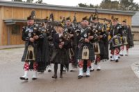 Kernow Pipes and Drums at the opening of new hydrotherapy pool at merlin centre