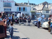 Kernow Pipes and Drums at St Mawes classic car show