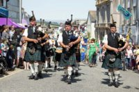 Kernow Pipes & Drums at Golowan Festival Mazey Day 2019