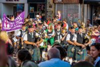 Kernow Pipes and Drums at Newquay carnival 2019