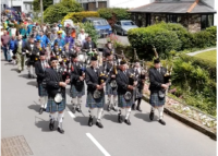 Kernow Pipes & Drums at Polperro Music Festival 2019
