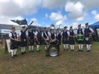 Kernow Pipes and Drums at Royal Cornwall show 2019