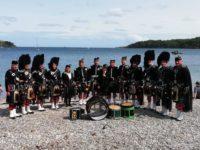 Kernow Pipes & Drums at Trebah Military Day 2019